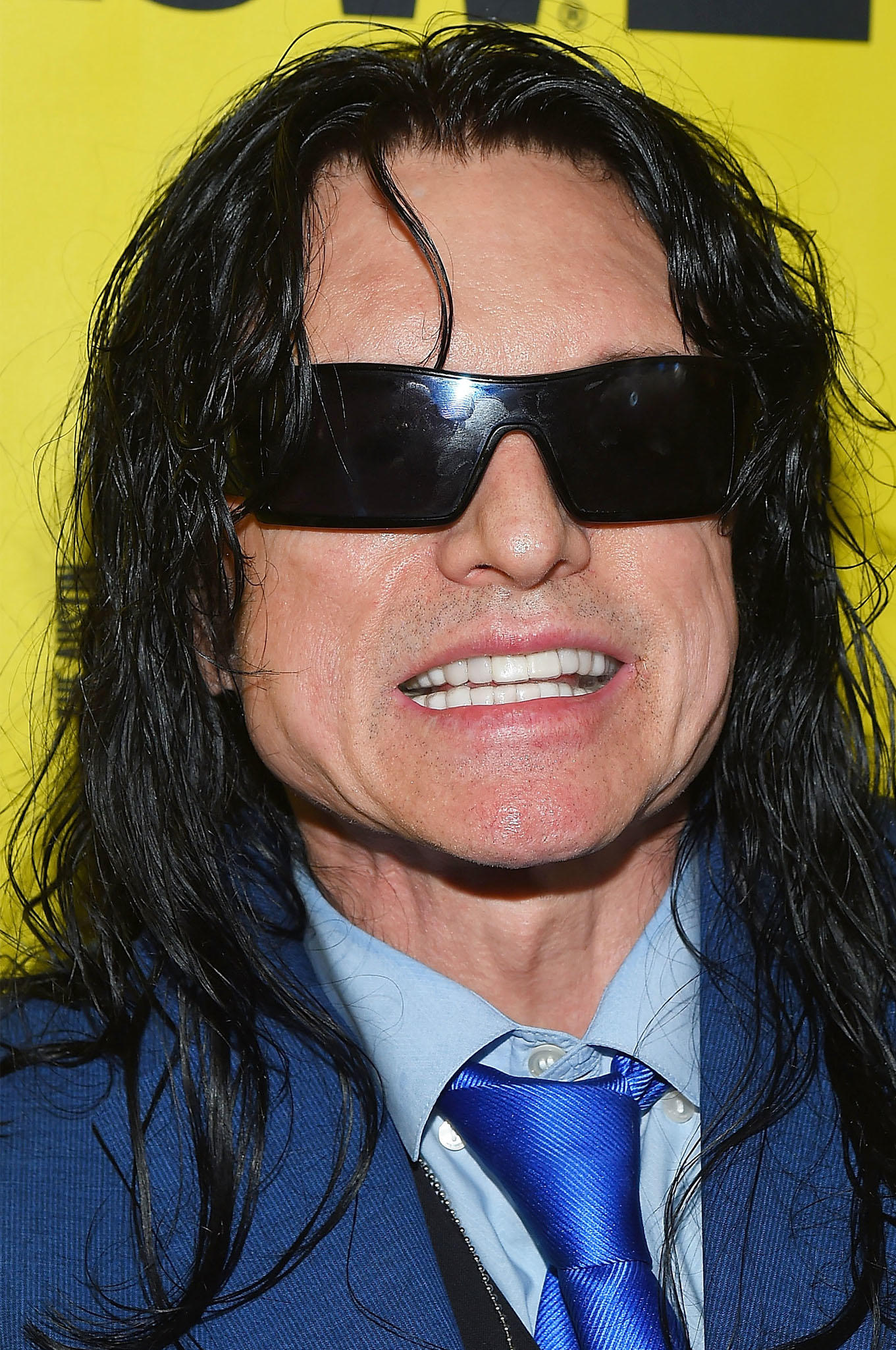 Tommy Wiseau at the premiere of