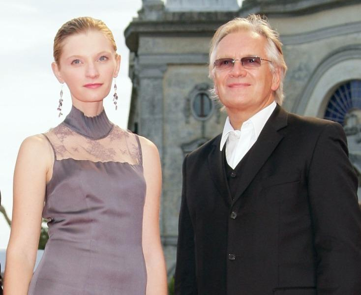 Agata Buzek and Andrzej Seweryn at the premiere of