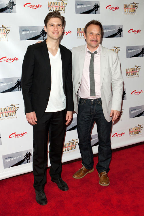 Aaron Tveit and Norbert Leo Butz at the 29th Annual Fred & Adele Astaire Awards.