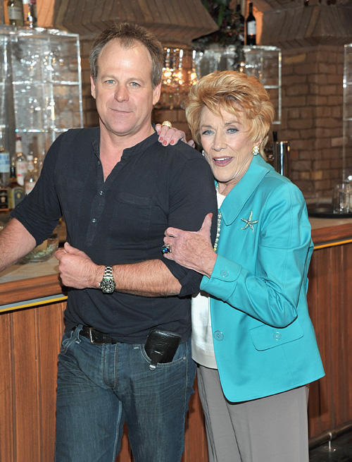 Kin Shriner and Jeanne Cooper at the CBS