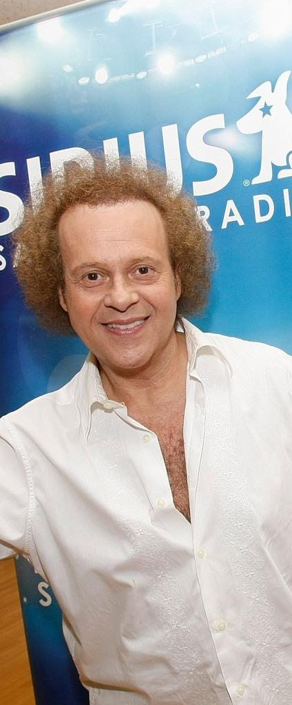 Richard Simmons at the hosting of his weekly radio show on Sirius Satellite Radio.
