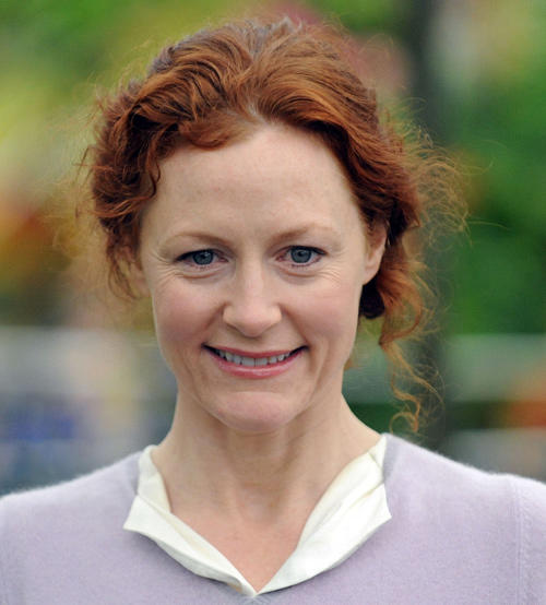 Geraldine Somerville at the press and VIP preview day for The Chelsea Flower Show in London.
