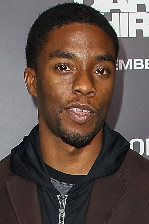 Chadwick Boseman at the premiere of