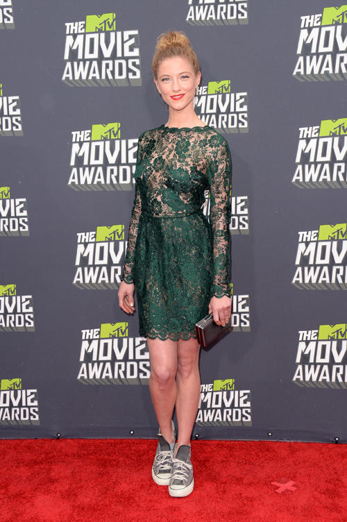 Caitlin Gerard at the 2013 MTV Movie Awards.