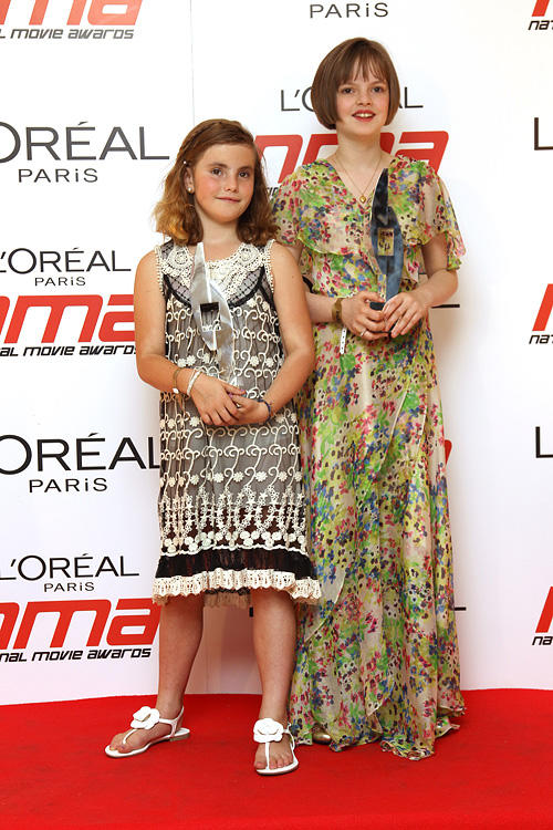 Ramona Marquez and Freya Wilson at the National Movie Awards 2011 in England.