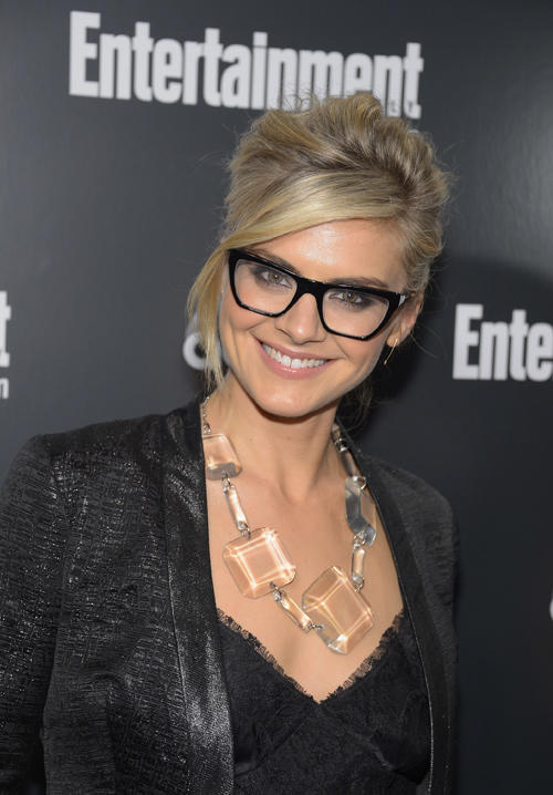 Eliza Coupe at the Entertainment Weekly & ABC-TV Up Front VIP party in New York.