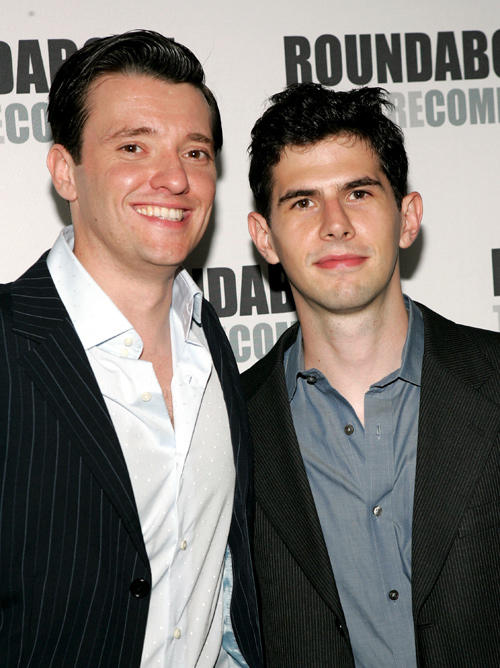 Jason Butler and Daniel Eric Gold at the after party of the Broadway opening night of
