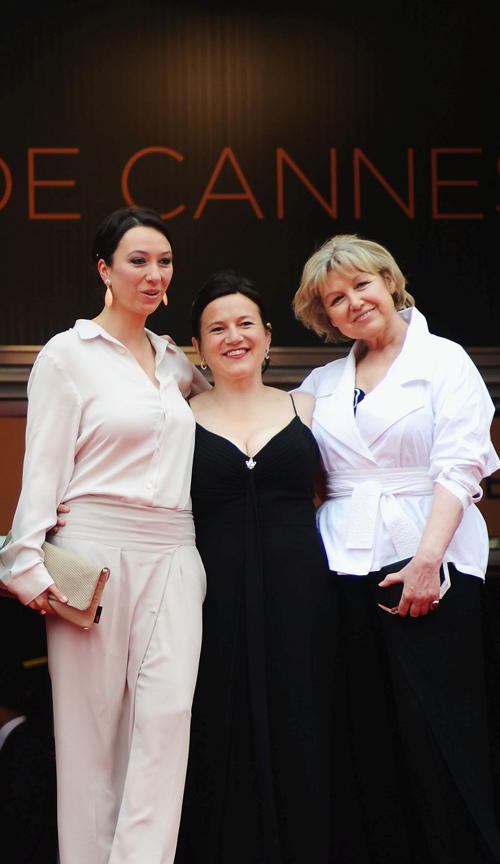 Ursula Strauss, Gisella Salcher and Christine Kain at the France premiere of