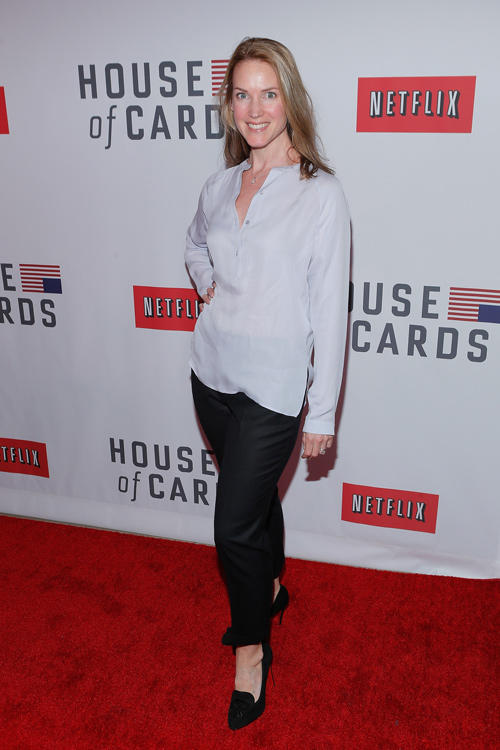 Francie Swift at the New York premiere of Netflix's