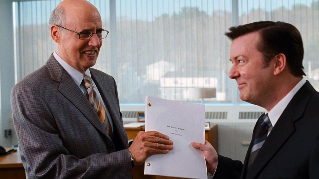 Jeffrey Tambor as Anthony and Ricky Gervais as Mark Bellison in