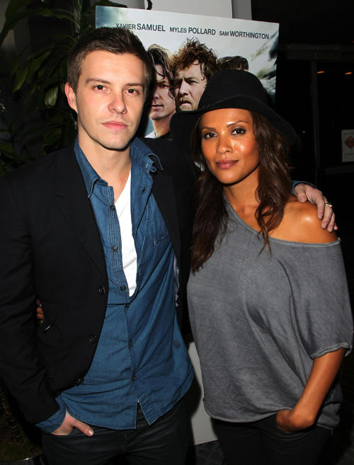 Xavier Samuel and Lesley Ann Brandt at the California premiere of