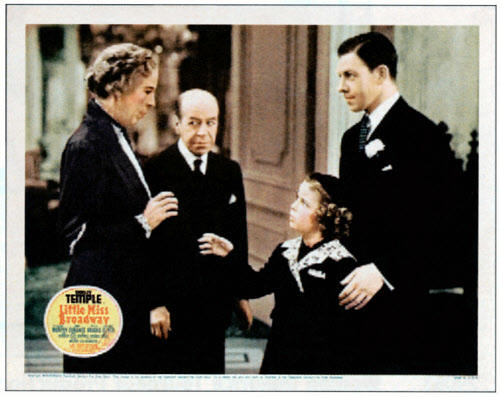 Edna Mae Oliver, Donald Meek, Shirley Temple and George Murphy in
