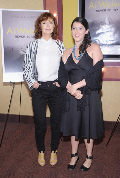 Susan Sarandon and Alison Klayman at the New York premiere of