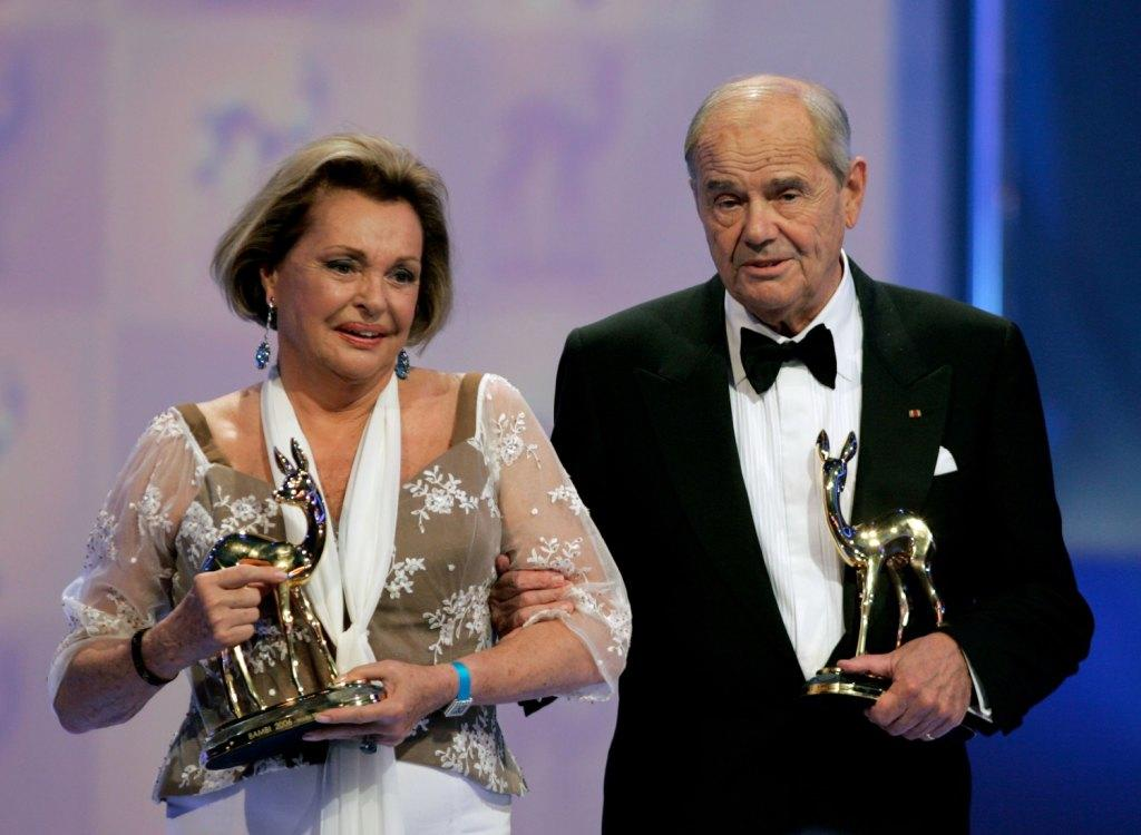 Nadja Tiller and Walter Giller at the 58th annual Bambi Awards.
