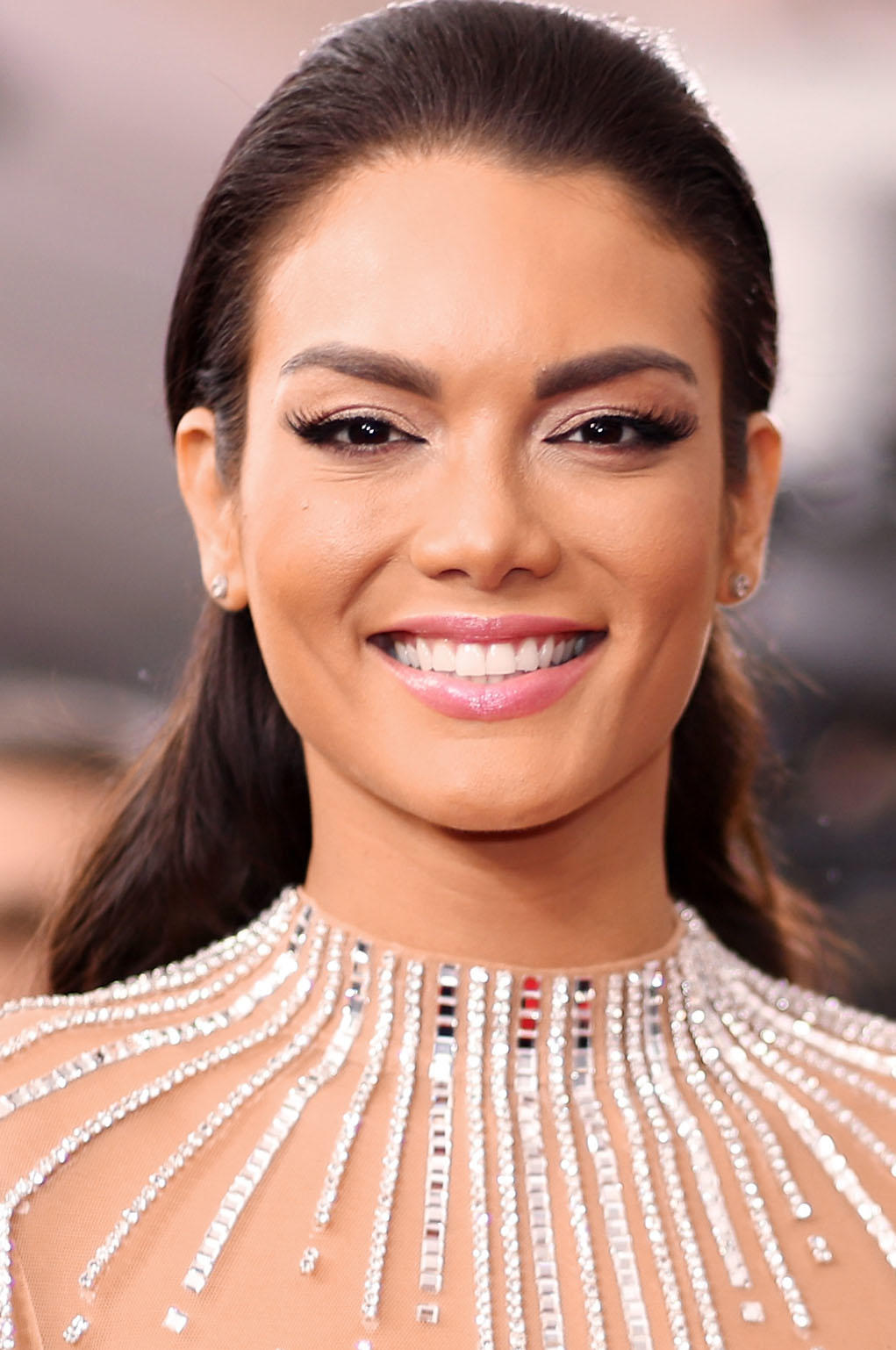 Zuleyka Rivera at the 60th Annual Grammy Awards in New York City.