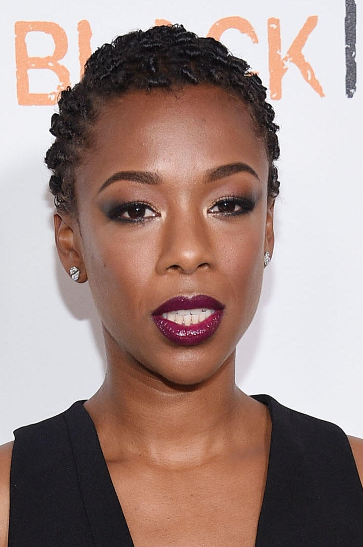 Samira Wiley at the 'Orange Is The New Black' premiere at SVA Theater.