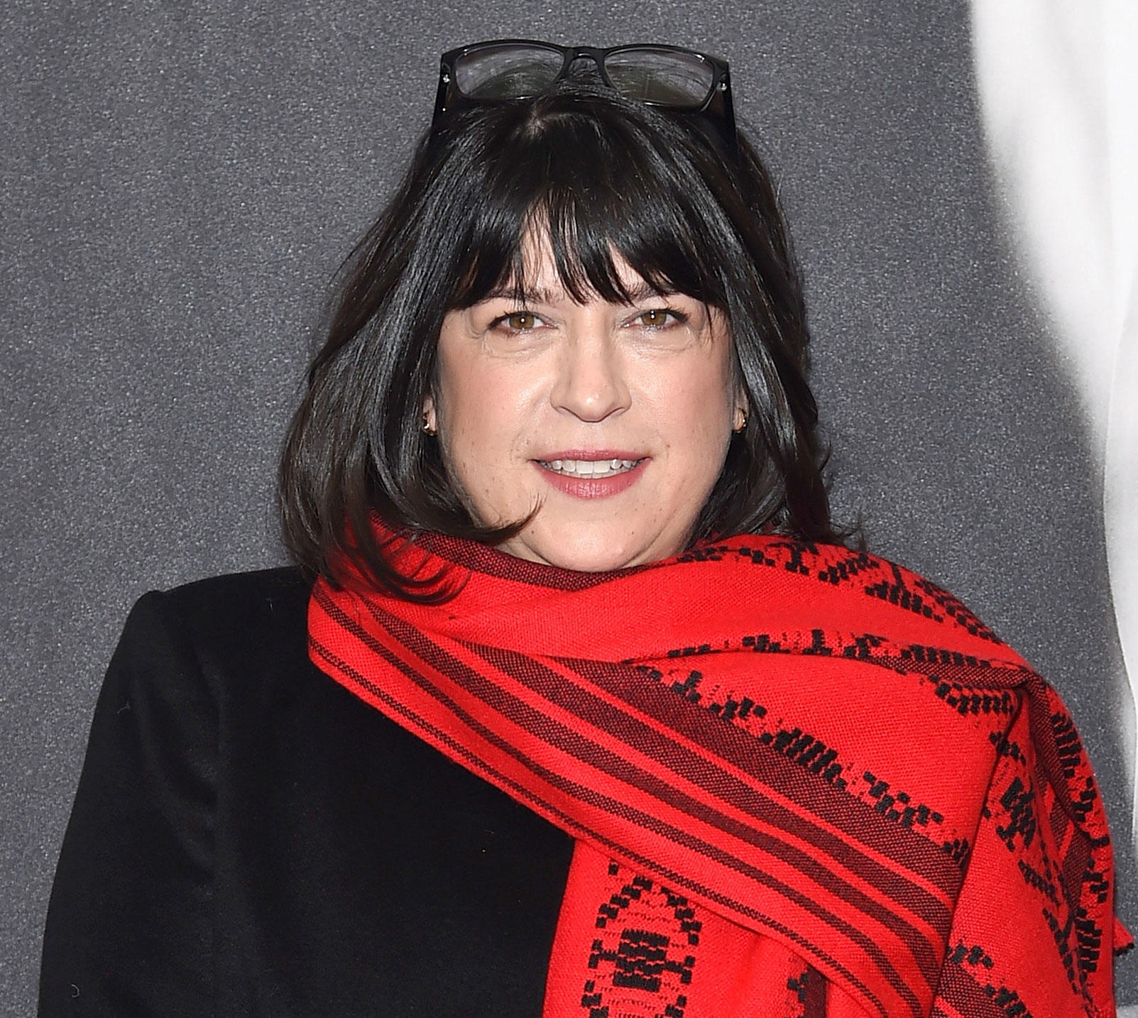 E.L. James at the New York screening of