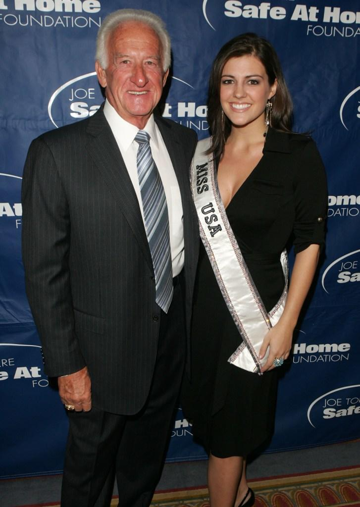 Bob Uecker and Miss USA Chelsea Cooley at the