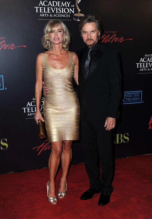 Eileen Davidson and Vincent Van Patten at the 37th Annual Daytime Entertainment Emmy Awards.