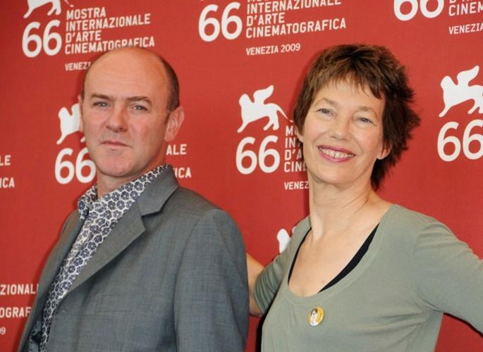 Jacques Bonnaffe and Jane Birkin at the photocall of