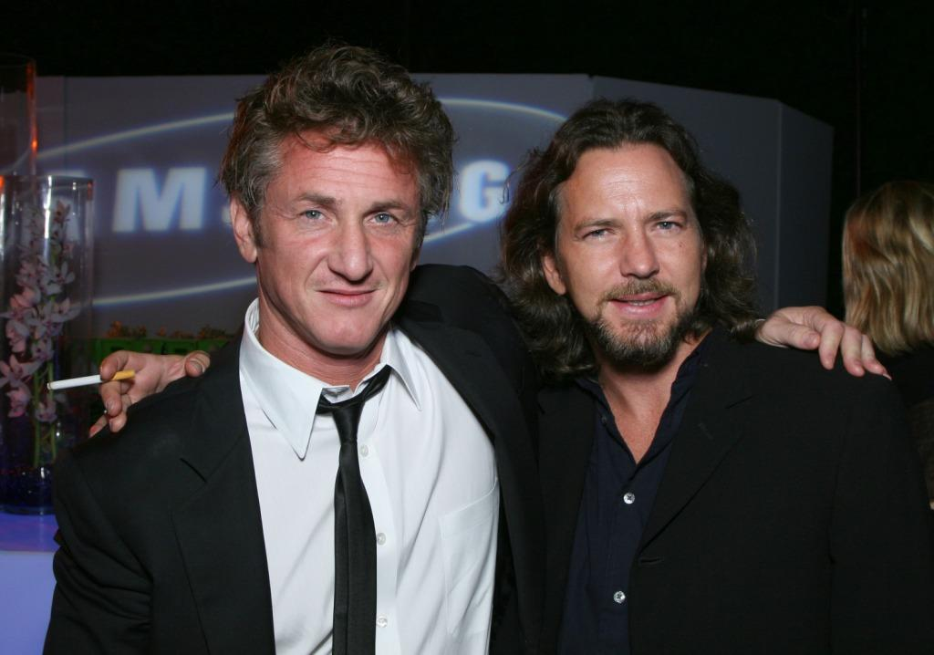 Director Sean Penn and Eddie Vedder at the after party of the Los Angeles premiere of