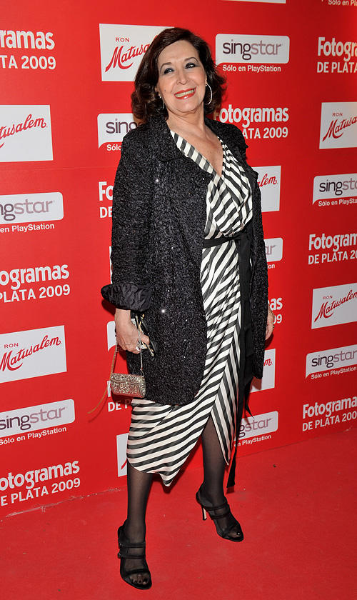 Concha Velasco at the Fotogramas magazine awards in Spain.
