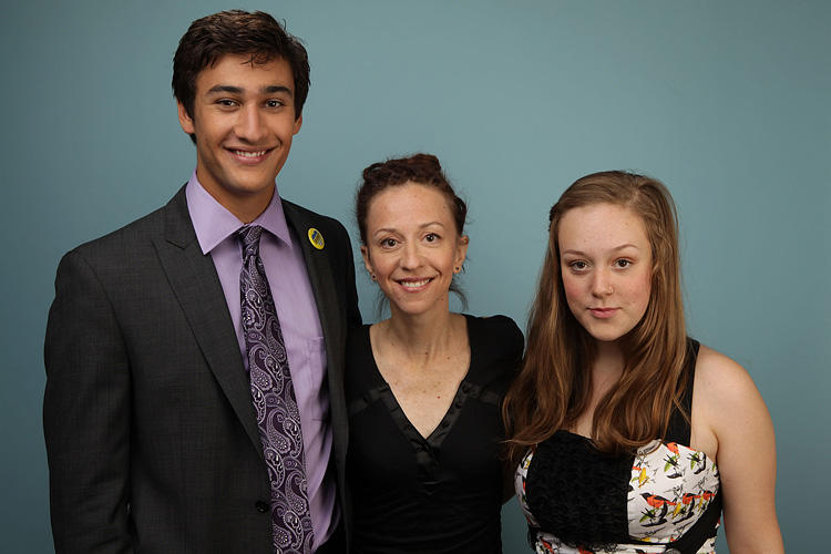 Alexander Gammal, Ingrid Veninger and Hallie Switzer at the 2010 Toronto International Film Festival in Canada.
