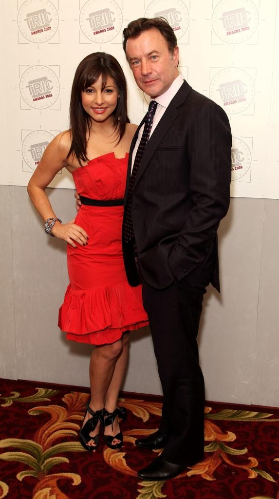 Roxanne Pallett and Christopher Villiers at the Television And Radio Industries Club Ceremony 2008.