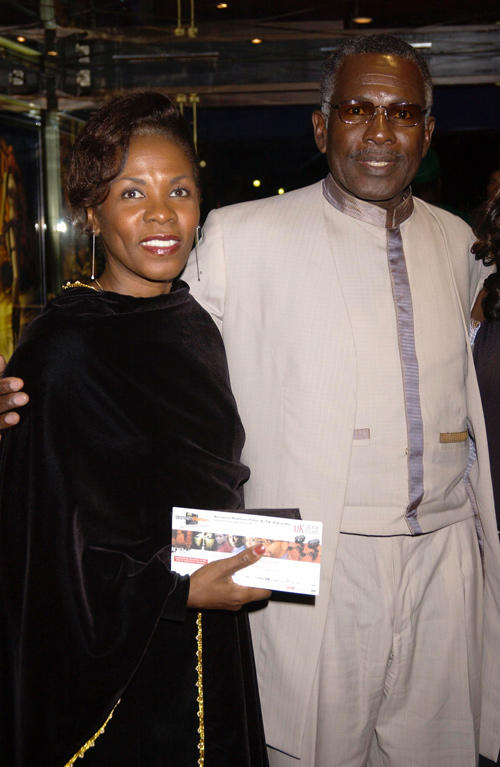 Rudolph Walker and Guest at the Screen Nation Film and Television Awards 2003 in London.