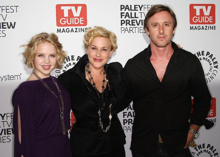 Sofia Vassilieva, Patricia Arquette and Jake Weber at the PaleyFest and TV Guide Magazine's CBS Fall television preview party.