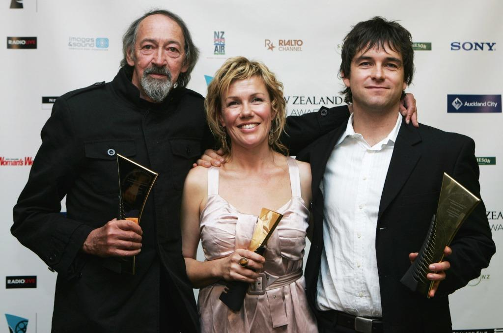 Frank Whitten, Robyn Malcolm and Anthony Starr at the Air New Zealand Screen Awards.