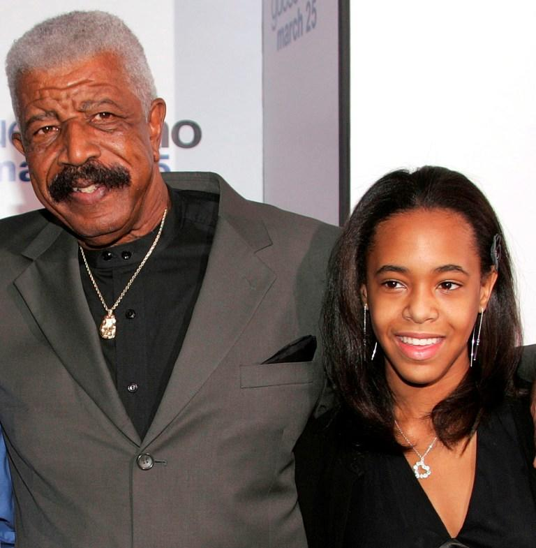 Hal Williams and Granddaughter at the premiere of