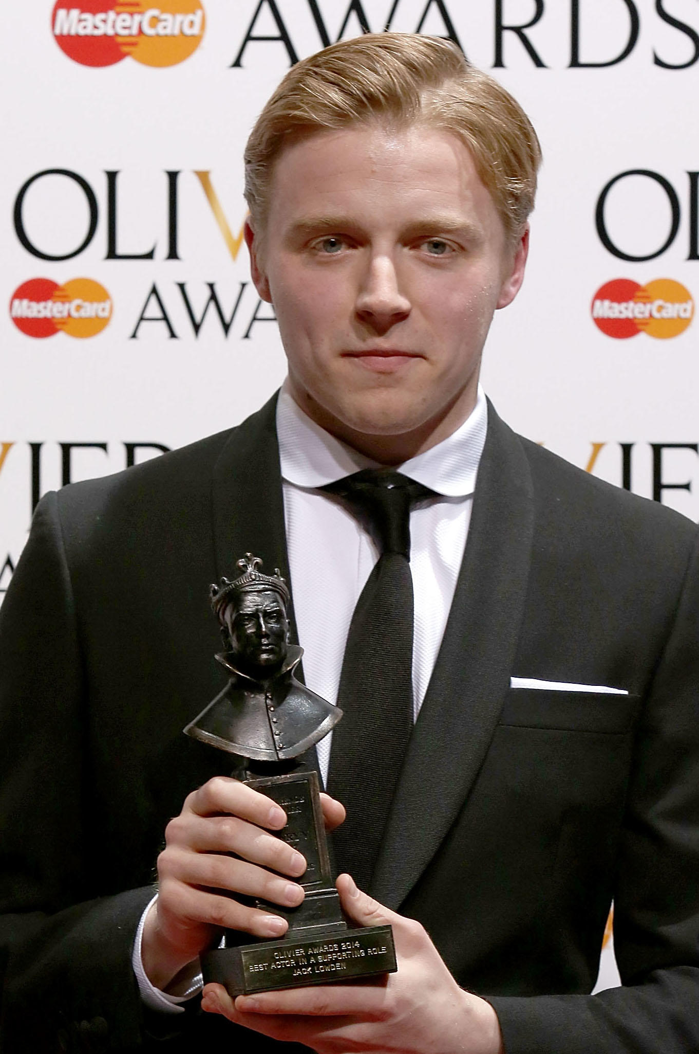 Jack Lowden at the 2014 Laurence Olivier Awards in London.