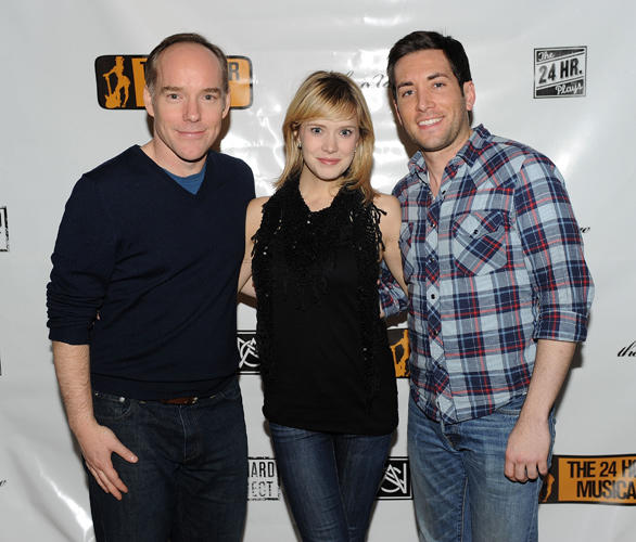 Michael Winther, Marnie Schulenburg and Zachary Prince at the after party of 2010 24 Hour Musicals.