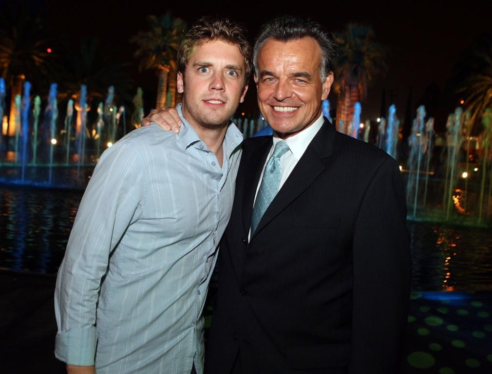 Bret Harrison and Ray Wise at the CW Television Critics Association Press Tour party.