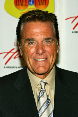Chuck Woolery, one of the hosts of 'The $250,000 Game Show Spectacular,' poses during a reception following the American TV Game Show Hall of Fame induction ceremony at the Las Vegas Hilton.