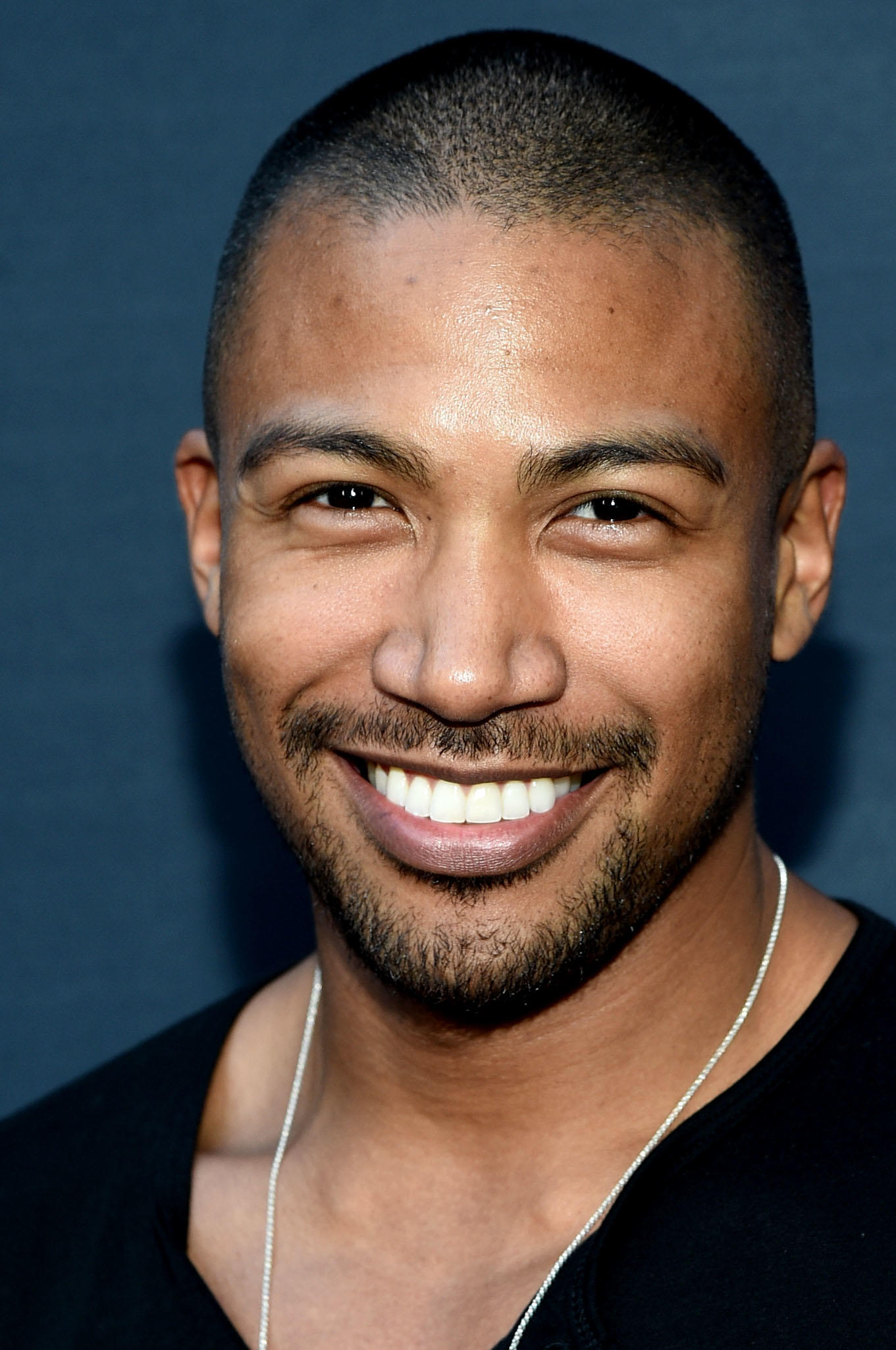 Charles Michael Davis at the premiere of