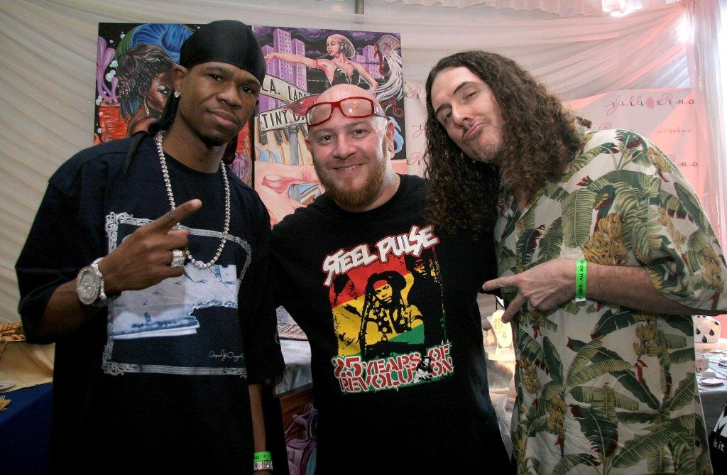 Chamillionaire, Jim Hayek and Weird Al Yankovic at the American Music Awards.