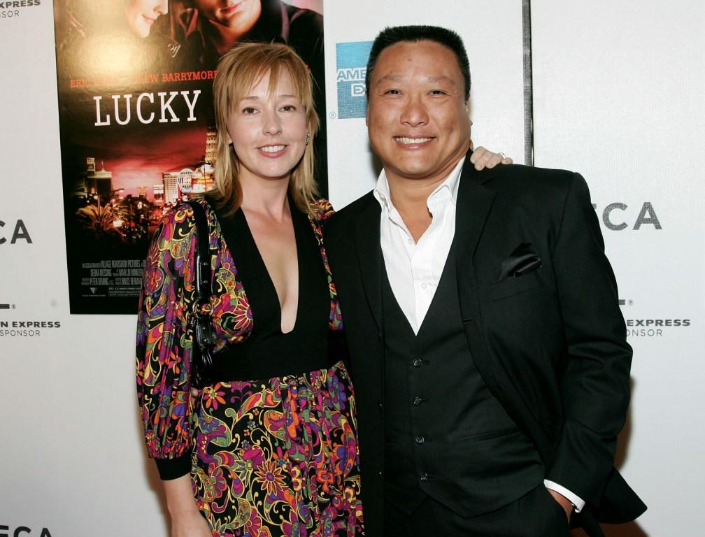 Magarita and her husband Kelvin Han Yee at the premiere of