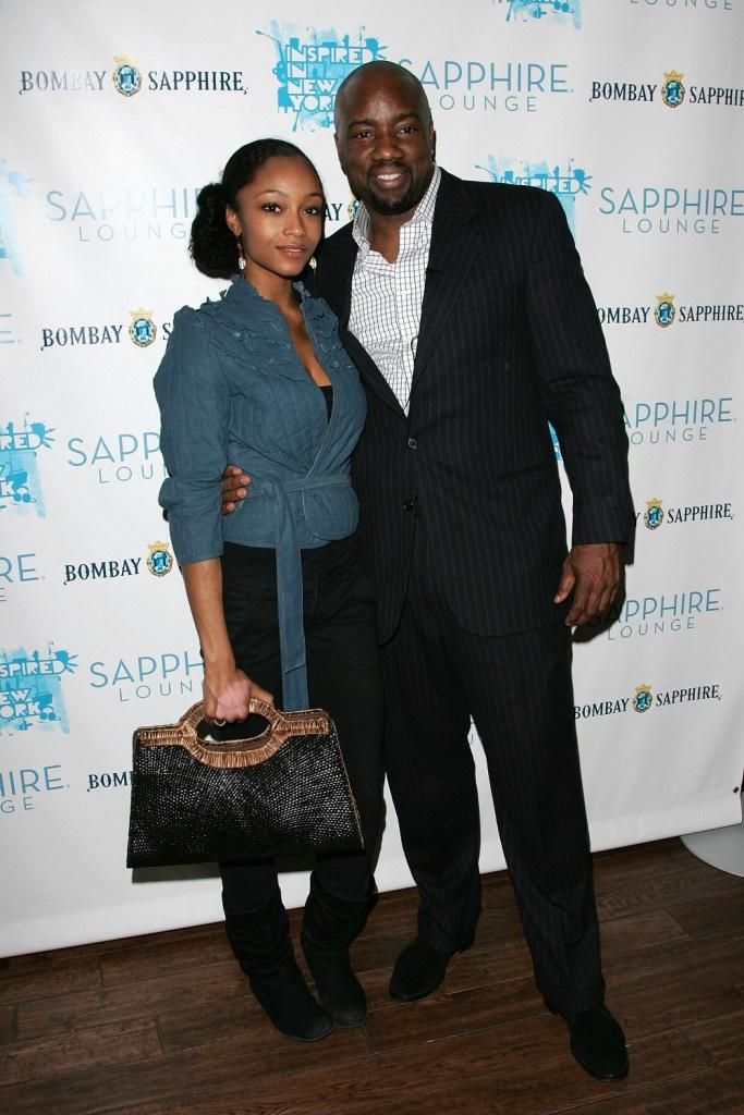 Yaya Decosta and Malik Yoba at the opening night of