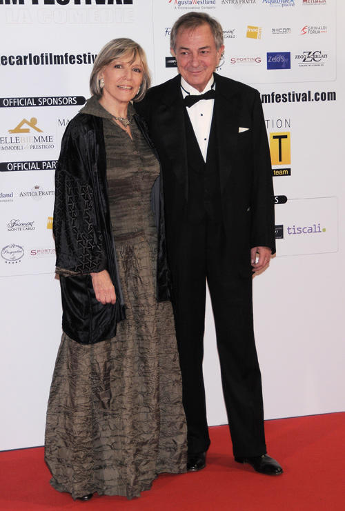 Victoria Zinny and Remo Girone at the 2009 Monte-Carlo Film Comedy Festival Cocktail Party.