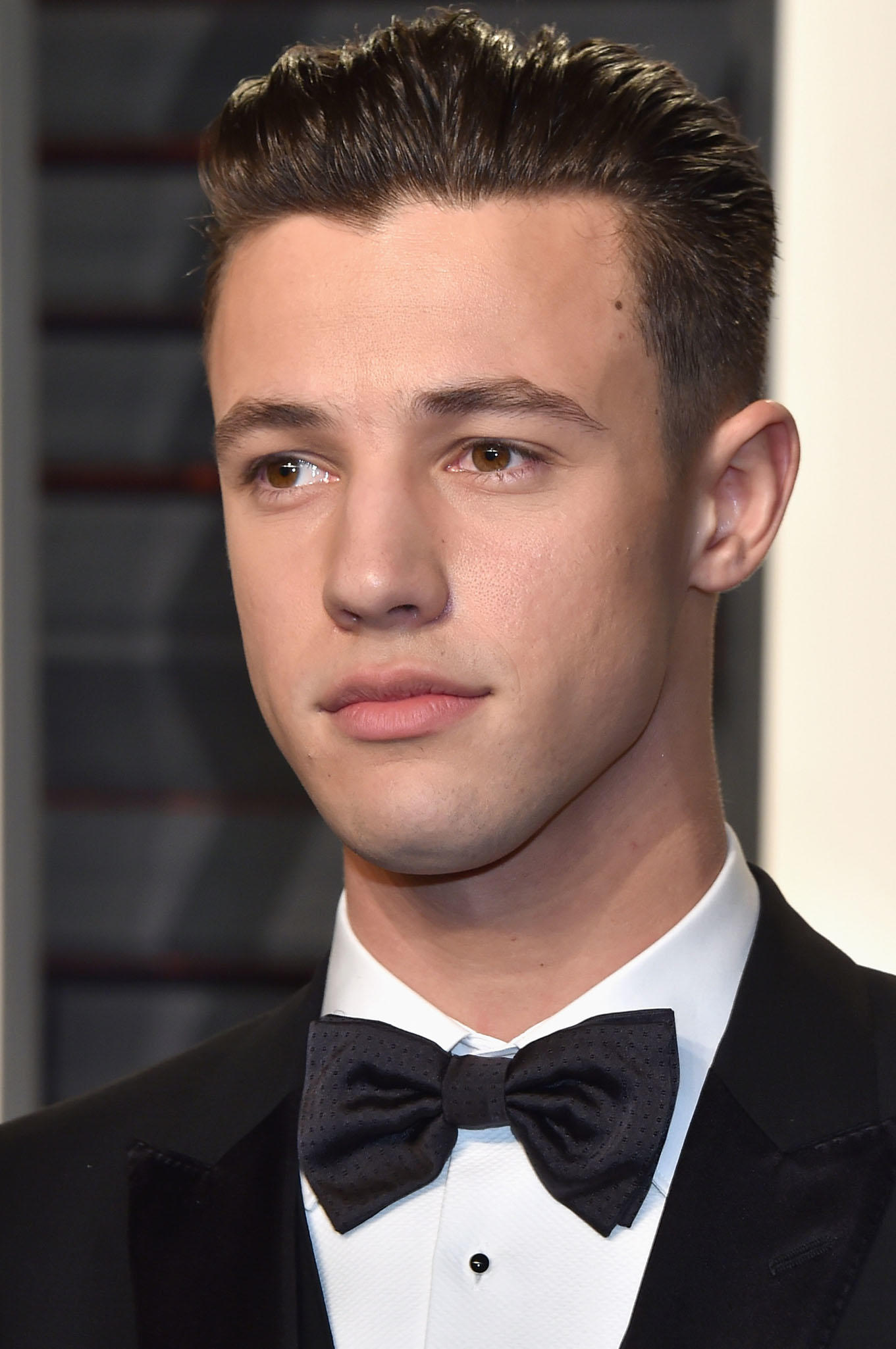 Cameron Dallas at the 2017 Vanity Fair Oscar party in Beverly Hills, CA.