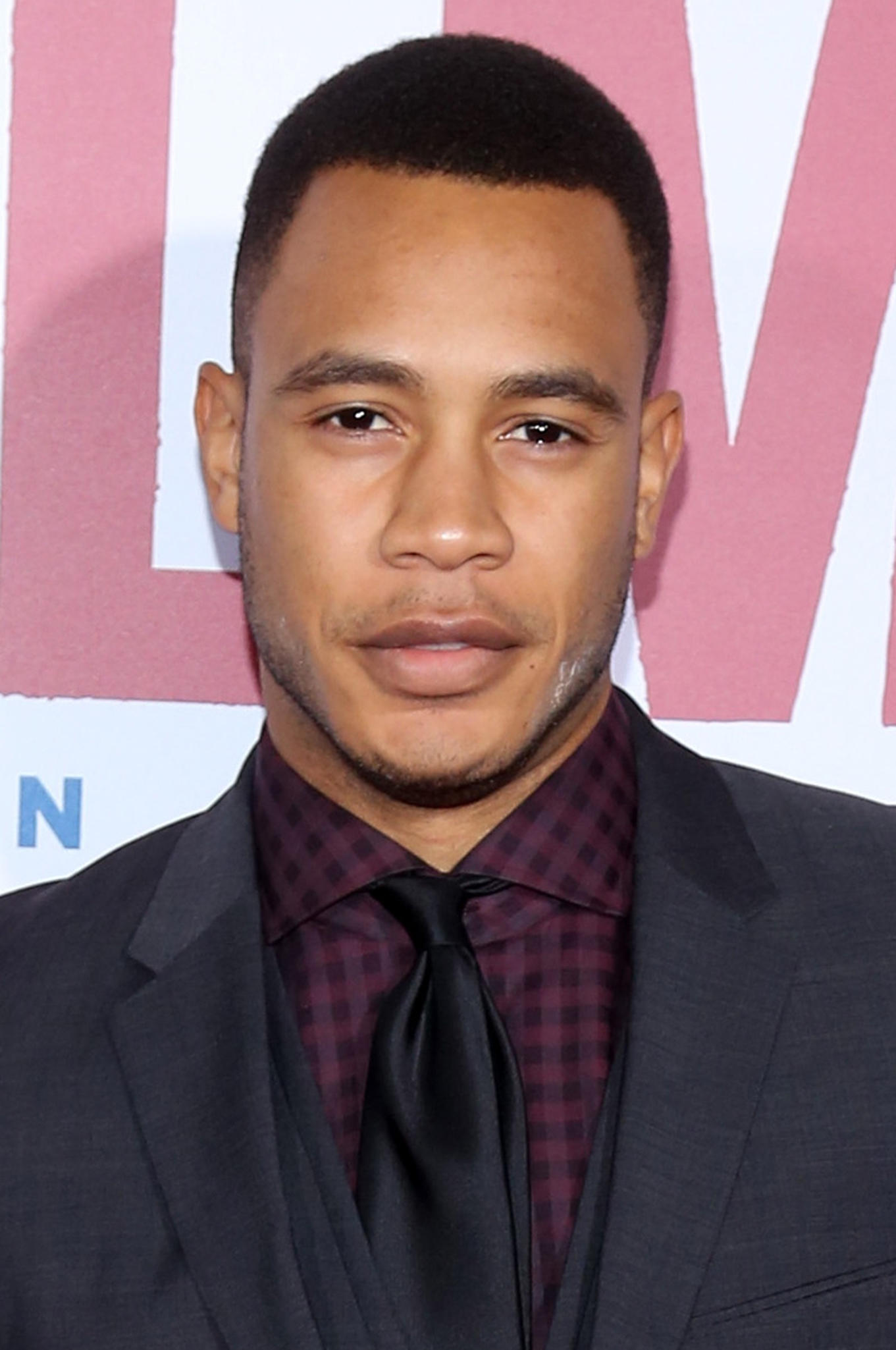 Trai Byers at the NY premiere for