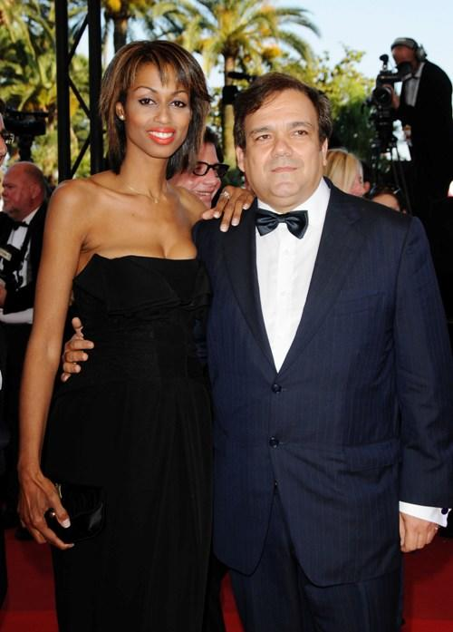 Didier Bourdon and Guest at the premiere of