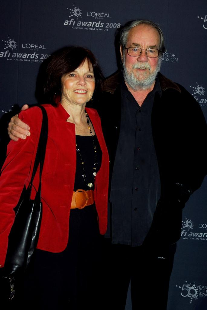 Sandy and Russell Boyd at the L'Oreal Paris 2008 AFI Awards Screenings launch.