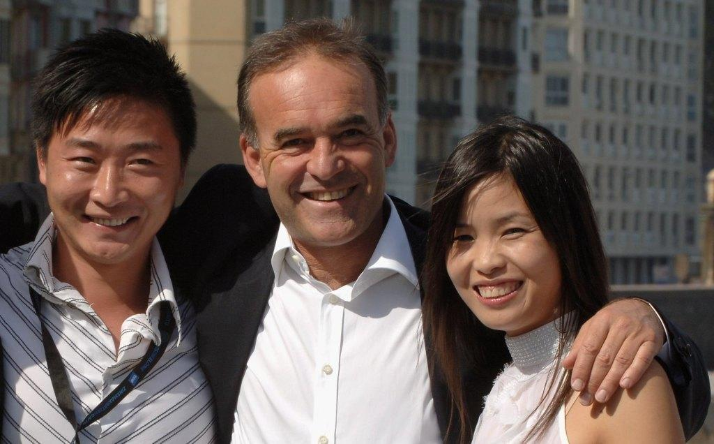 Zhe Wei, Nick Broomfield and Ai Qin Lin at the photocall of