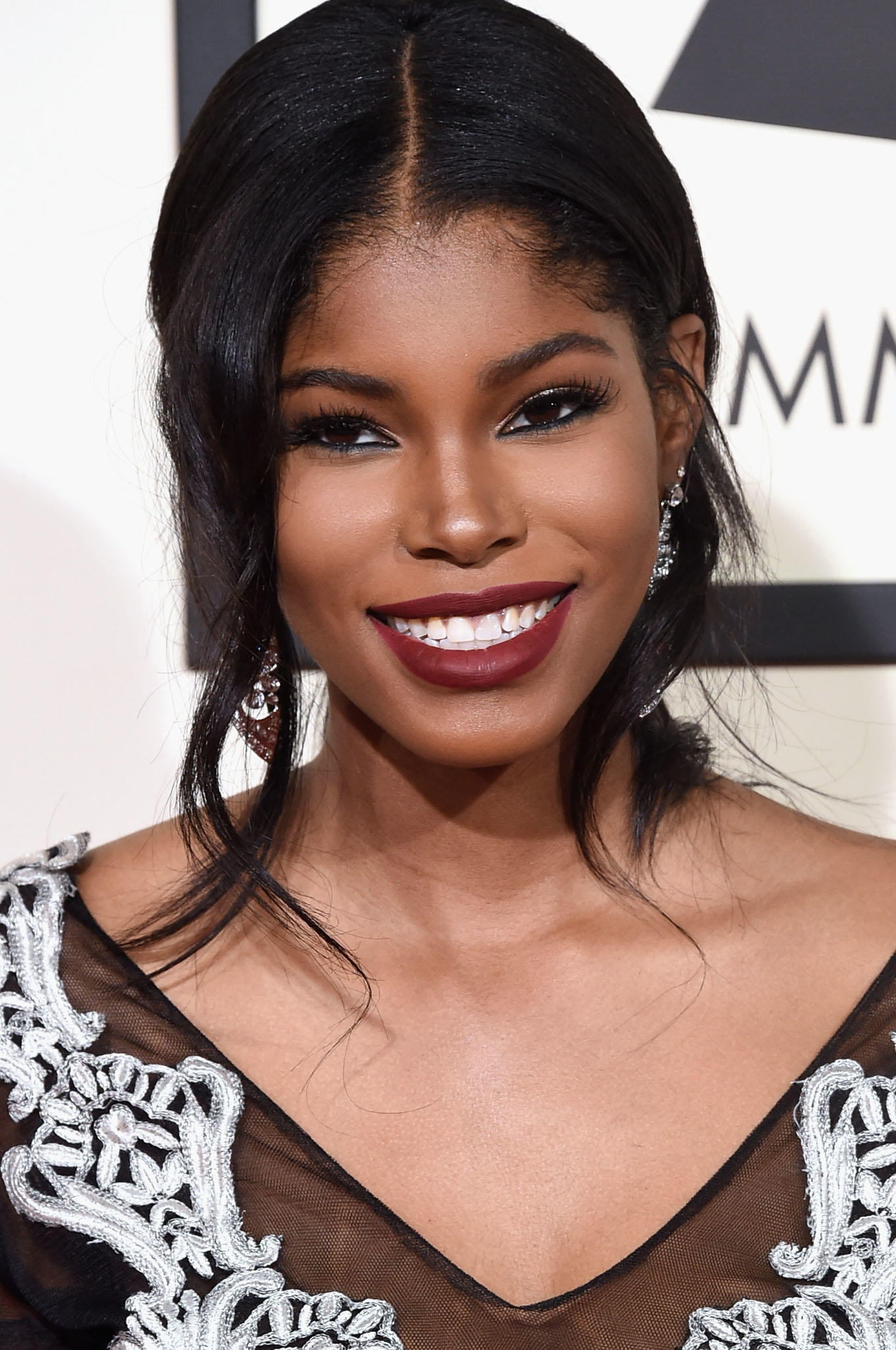 Diamond White at the 58th Grammy Awards in Los Angeles.