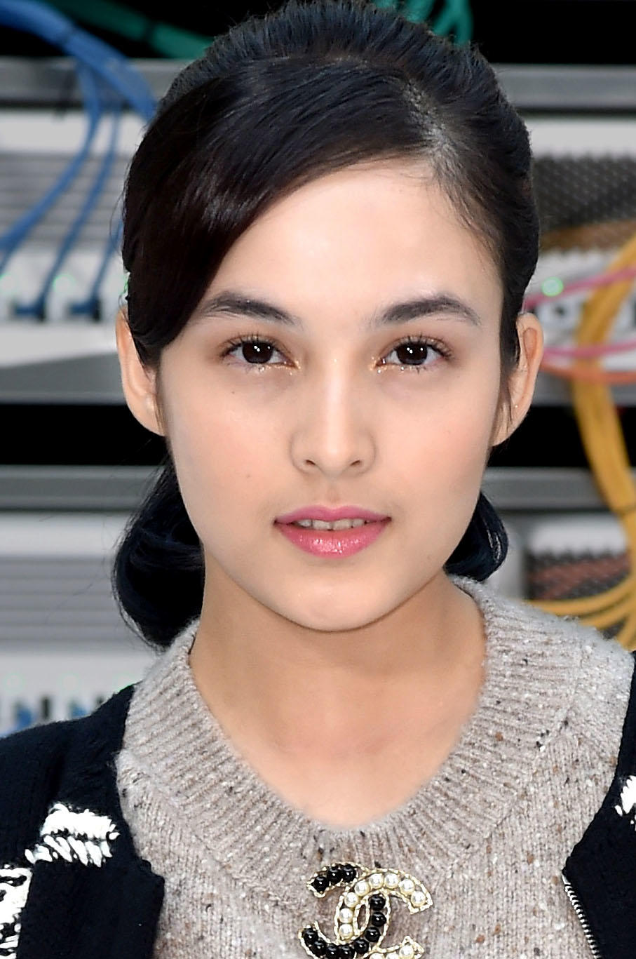 Chelsea Islan at the Chanel show during Paris Fashion Week.