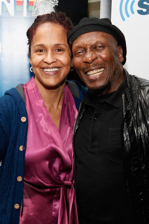 Pat Mckay and Jimmy Cliff at the SiriusXM Studio in New York.