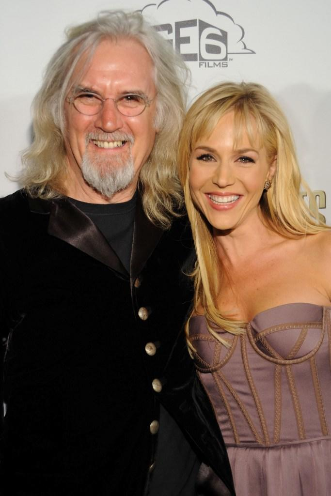 Billy Connolly and Julie Benz at the California premiere of